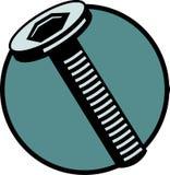 имеющимся вектор наговора архива болта продетый нитку винтом Стоковое Изображение
