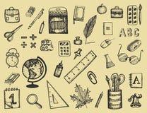 Имитаторы спортивного инвентаря и вектора Иллюстрация эскиза Стоковое Изображение RF