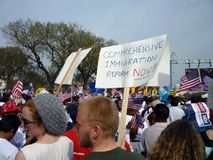 иммиграция теперь реформирует Стоковая Фотография