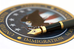 иммиграция Стоковое Изображение RF
