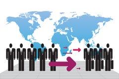 иммиграция Иллюстрация вектора