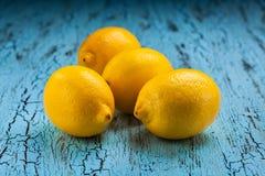 4 лимона Стоковое Изображение