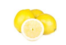 лимоны зрелые Изолировано на белизне Стоковое фото RF