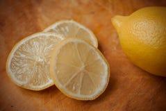лимон отрезает все Стоковая Фотография