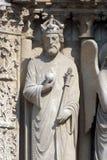 Император Константин, собор Нотр-Дам, Париж Стоковые Изображения