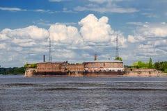 Император Питер форт елей в Gulf of Finland, России Стоковое Изображение RF