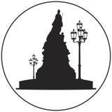 Императрица Катрин II большой значок вектора памятника Стоковое фото RF