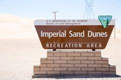 Имперский знак песчанных дюн Стоковое Фото