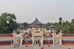 Имперский свод рая на Tiantan - Temple of Heaven, Пекине стоковые изображения rf