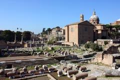 Имперский форум, Рим, Италия Стоковое Изображение