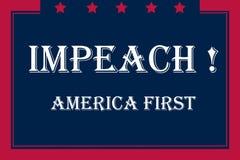 Импичмент США, цвет флага Стоковые Изображения RF