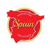 Импортированный от ярлыка Испании иллюстрация вектора