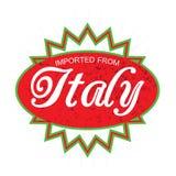Импортированный от ярлыка продукта Италии бесплатная иллюстрация