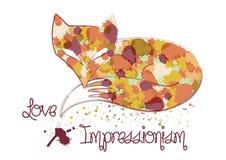 Импрессионистская иллюстрация лисы Стоковые Фотографии RF