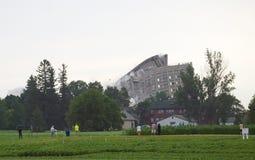 Имплозия здания Стоковое Изображение