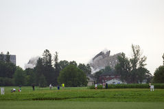 Имплозия здания Стоковые Фото