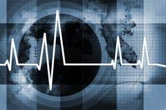 ИМП ульс сердца предпосылки Стоковая Фотография RF