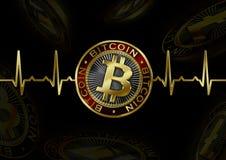 ИМП ульс Cryptocurrency Bitcoin Стоковая Фотография RF