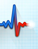 ИМП ульс тарифа сердца следуя медицинскую предпосылку символа Стоковое Изображение RF