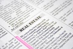 имущество clasified объявлением реальное стоковое фото rf