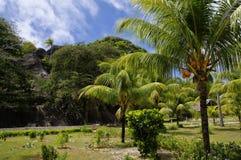 Имущество L'Union, Ла Digue, острова Сейшельских островов Стоковые Фотографии RF