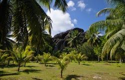 Имущество L'Union, Ла Digue, острова Сейшельских островов Стоковые Фото
