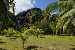 Имущество L'Union, Ла Digue, острова Сейшельских островов Стоковое Фото