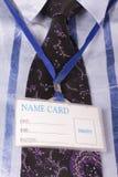 имя карточки Стоковая Фотография RF