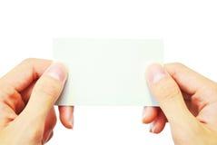 имя карточки Стоковые Изображения