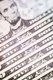 Имя президентов объединенной Америки на банкнотах доллара стоковые изображения