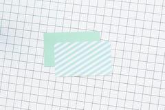 имя пустой карточки Стоковые Изображения RF