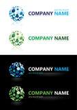 имя элементов конструкции компании иллюстрация вектора