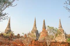 Имя Wat Mahathat виска, старый городок в Ayutthaya, Таиланде стоковая фотография rf