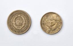 10 динаров Yugoslava Стоковые Изображения