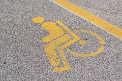 инвалидный знак Стоковое Фото