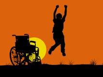 инвалидный скакать Стоковое Изображение RF