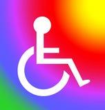 инвалиды следуют за символом солнца Стоковое Изображение