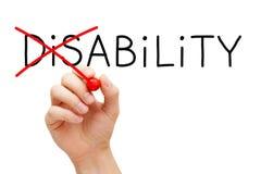 Инвалидность способности не стоковые изображения rf