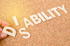 Инвалидность для способности Стоковое фото RF