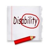 Инвалидность Стоковая Фотография