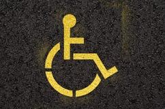инвалидный знак Стоковое Изображение RF