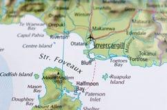 Инверкаргилл на карте Стоковые Изображения RF