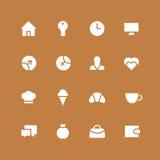 Инвертный комплект значка дома и семьи и природы Стоковое Изображение