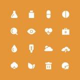 Инвертный комплект медицинских и природы значка Стоковые Фото