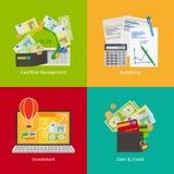 Инвестировать и личные финансы иллюстрация штока