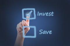 Инвестировать или сохранять Стоковое фото RF