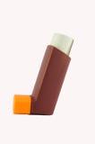 Ингалятор астмы на белой предпосылке Стоковая Фотография RF