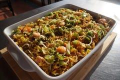 ингредиенты для подготовки рецепта suey отбивной котлеты стоковые фото