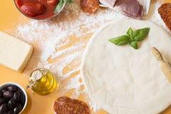 Ингредиенты пиццы стоковое изображение rf