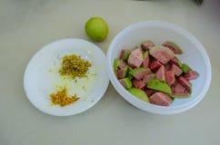 Ингредиенты Smoothie Guava стоковое изображение